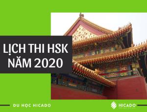 Lịch thi HSK năm 2020
