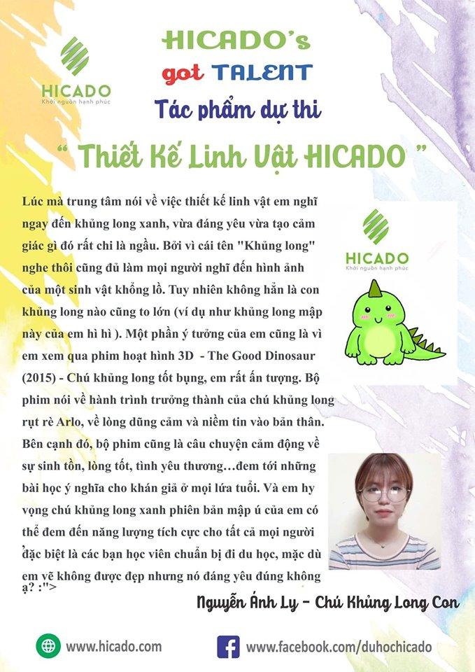 1 Khủng Long Nguyễn Ánh Ly (giải ấn Tượng)