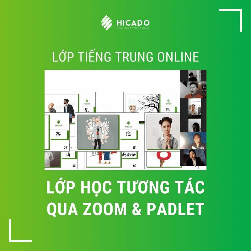 Lớp tiếng Trung thực chiến online tương tác qua zoom - Hicado